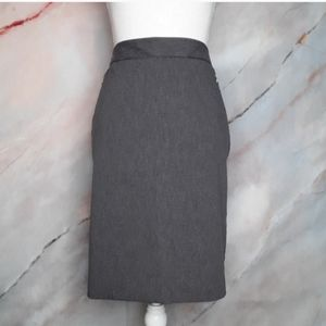 THE LIMITED Grey Exact Stretch Pencil Skirt